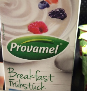 Delicious breakfast yoghurt, natural.