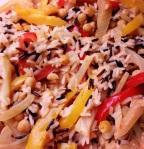 Wild rice, fennel, peppers and chick peas
