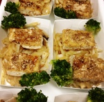 Sesame Tofu, stir-fry veggies w/ teriyaki sauce